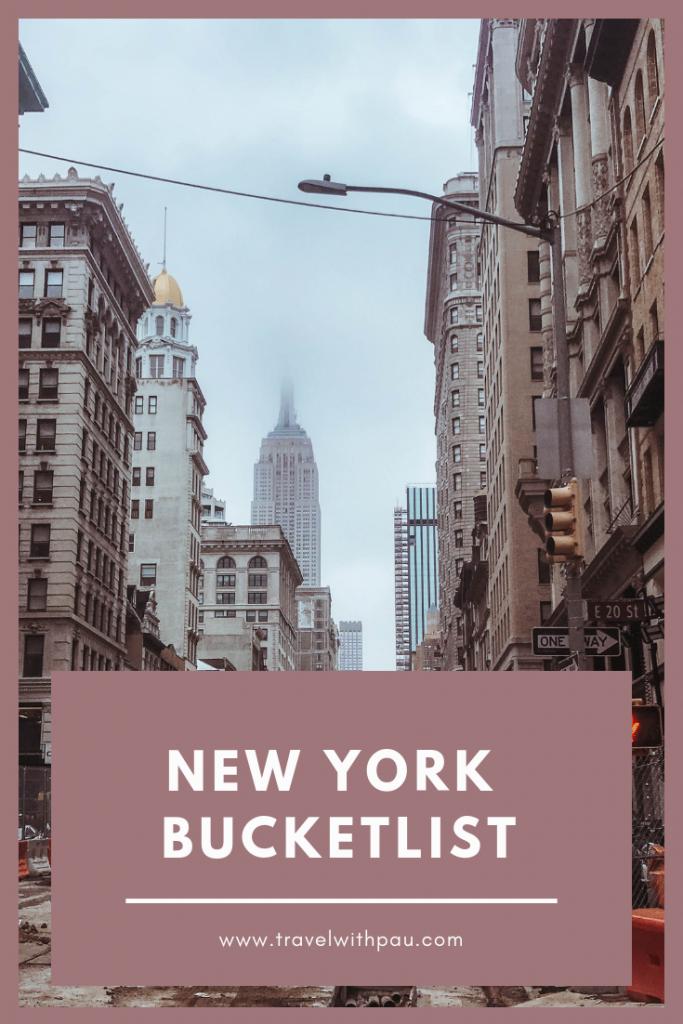 new york bucket list