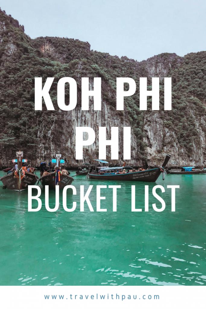 koh phi phi bucket list