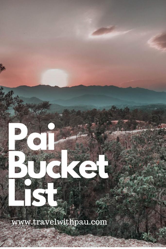 Pai Bucket List