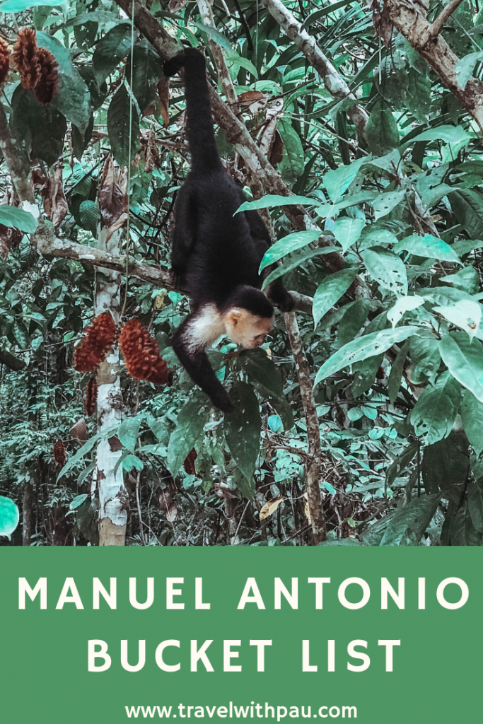 manuel antonio bucket list